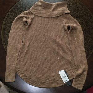 BCX Brown/Tan Shimmery Sweater Top Size XS